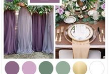Cross creek ranch / Elegant, classic, romantic : Lavender, wisteria, sage green, rosemary green, hunter green (with hints of gold)
