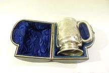 Classic Wedding and Christening gifts / Classic Wedding and Christening gifts christening mugs, sterling silver case, grooms card case, wallet, christening spoons, antique wedding silver, vintage wedding, bridal gifts, wedding favors, baby shower.