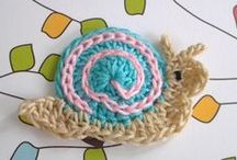 crochet applique / applique