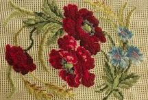 haft krzyżykowy maki / haft