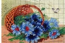 haft krzyżykowy chabry