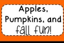Apples, Pumpkins, and Fall Fun / All about apples, pumpkins, fall, Halloween in the classroom!