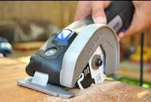 US40 Ultra-Saw / The Dremel Ultra-Saw is a 3-in-1 multi-saw with more power, a faster cutting speed and improved durability. It goes beyond the expected cutting functions with surface preparation applications including rust, paint and thinset removal.  / by Dremel