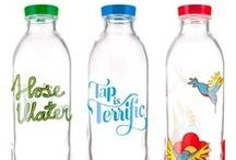 Classic Glass Water Bottles / Select from our Hose Water, Tap is Terrific and Hummingbird Feeder designs / by Faucet Face