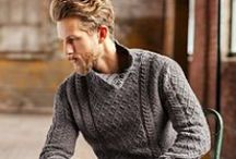 knitting ~ men / patterns suitable for my husband and our sons.... / by AJ