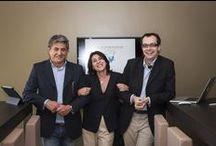 il nostro Team / Silvano Bonini, Gabriele Cazzulini e Francesca Sanguineti: tre professionisti della comunicazione che hanno creato l'Agenzia che applica alla comunicazione i princi della sana e corretta alimentazione