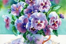 I LOVE PANSY FLOWERS