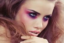 Radiant Orchid - Pantone of the year 2014 - Hair and Makeup styles - / Ode to the new awesome Pantone color of the year : Radiant Orchid - through different hair and makeup styles.