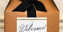 Wedding | Welcome / From decorative signs to hotel gifts, make your guests feel welcome at your big day!
