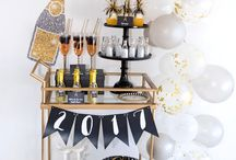Holiday | New Year's Eve / NYE  | Decorations, Favors, Centerpieces, Invitations, Food, Drink and Inspiration