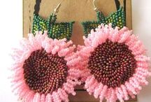 Woza Moya Earrings / All the earrings you see are made by the crafters of Woza Moya. www.hillaids.org.za