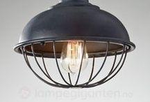 Industrielle lamper / Lamper med industrielt design. En blanding av våre lamper og andre lamper som vi elsker.