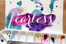 Watercolour Typography / The writings' on the wall