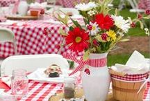 Party & Picnic Ideas / It's time to invite some friends over for a nice outdoor lunch or a season themed picnic party. Check out some great ideas here from for your party decoration.
