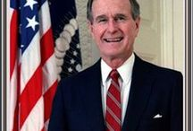 George Bush / George HW Bush (born June 12, 1924) an American politician who was the 41st US President from 1989 to 1993 and the 43rd Vice President of the United States from 1981 to 1989. A member of the U.S. Republican Party, he was previously a congressman, ambassador, and Director of Central Intelligence.