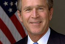 George W Bush / George Walker Bush (born July 6, 1946) an American politician who served as the 43rd US President from 2001 to 2009. He was also the 46th Governor of Texas from 1995 to 2000. He is the eldest son of Barbara and George H. W. Bush. After graduating from Yale University in 1968 and Harvard Business School in 1975, he worked in the oil industry.