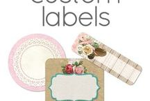 Custom Personalized Labels / Custom personalized stickers + labels by Cyan Sky Design on Zazzle. Both blank and template designs to create your own DIY customized prints.