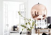 Clever copper / The warm metallic shine of copper is great for adding style to your home. Once a home decor trend, it looks like copper is now here to stay!