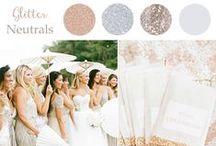 Glitter and Neutral / Wedding inspiration with a glitter and neutral color palette.