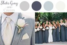 Gray and Slate / Wedding Inspiration based on a gray and slate color palette.