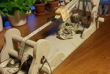 Produksjon for salg / Brikkebånd, Brikkebånd vev, Nålebinding, Viking, Vev, Needlebinding, Tablet weaving