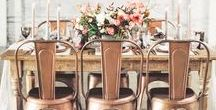 Copper is the new gold / Copper Wedding Inspiration