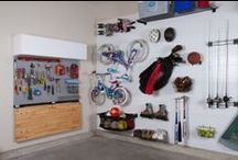 Garage Organization / Take back your space with these awesome garage space saving and organization tips and tricks.