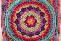 Crochety squares and circles / crochet squares and circles, mandalas, and other motif shapes also complete afghans.