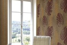 Batik / Wallcoverings & Wallpapers line. Made in Italy. Paper backed vinyl wallcovering plain and with special selected Flock