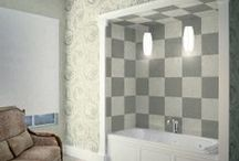 Seta / Paper backed vinyl wallcovering plain and with special selected Flock