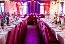 Colorful Wedding / #colorfulwedding #colorfulreception #colorwedding #colorfulflowersreception #pinkwedding #pinkreception #energyreception