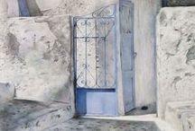 Drawings of Santorini, by Susan Brinkmann / Drawings of scenes that attracted me on the Cycladic island of Santorini (Greece)