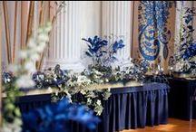 Navy Blue Wedding / #navybluewedding #navybluereception #navyblue #bluewedding #bluereception #castlebluenavywedding