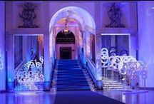 Digits Meadows Installation - Gala Dinner / #anniversary #celebration #magicalplace #opera #digits #flowers #deepbluelights #artsize #hydrangea #corporate #event #digitsmeadows #eventlights #gala #installation #galadinner #galadinnersetdeco #corporatesetdeco #deepbluesetdeco