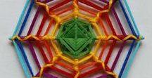 Mandalas / Mandala colouring pages, dot work mandalas, mandala stones, oho de dios/ yarn mandalas