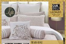 Club Bed Set / Fresh Ideas to make any room bloom! Dress your bed afresh! Wake up a cozy corner by layering a playful mix of soft pillows, throws and sheets in rich lively colors and  patterns.