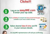 Immigration Medical Examination / This board is about easyIME.com, a free online service for US immigration medical exam applicants, USCIS approved civil surgeons and immigration lawyers. This board will tell you how you can use this free service whether you're an applicant, doctor or lawyer and make the most of your time online.