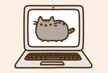 pusheen the cat / cute illustration / by coro