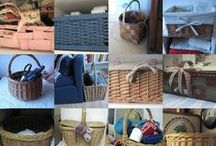 "Baskets & Basket weaving / Se more baskets/basketmaking on my board ""Reuse/Recycle""!"