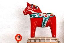 Dala Horses & other carvings