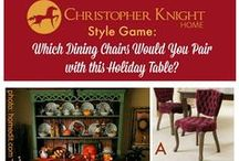 Style Game - Holiday Table Dining Chairs / Which set of Christopher Knight Home Dining Chairs would you choose for this holiday table?