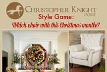 Style Game - Christmas Mantle by Adventures in Decorating / Let's play the Style Game! Which chair would you pair with this Christmas mantle designed by Adventures in Decorating?