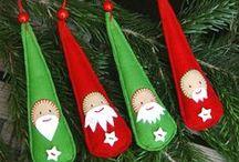 vánoční ozdoby / šité ván.ozdoby
