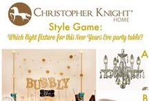 Style Game - New Years Eve Champagne Bubble Bar by Hostess with the Mostess / You be the designer! Pick the best light fixture for the Champagne Bubble Bar by voting on our Facebook page www.facebook.com/christopherknighthome, by tweeting us at @chrisknighthome or by leaving a comment here!