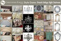 Style Game - French  Country Cottage / You be the designer!  Mix and match items from the Christopher Knight Home Collection to create a French cottage style bedroom. Share your creation with us on our Facebook page www.facebook.com/christopherknighthome, by tweeting us at @chrisknighthome or by leaving a comment here!