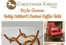 Style Game - Contour Coffee Table by Robby Cuthbert / Pair a chair with Robby Cuthbert's one of a kind Contour Coffee Table