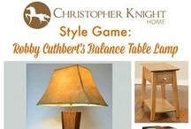 Style Game - Balance Table Lamp by Robby Cuthbert / Pair the Balance Table Lamp by Robby Cuthbert with a table from the Christopher Knight Home Collection.
