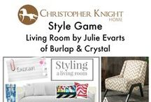 Style Game: Julie Evarts of Burlap & Crystal / Which chair would you pair with this living room designed by Julie Evarts of Burlap & Crystal?