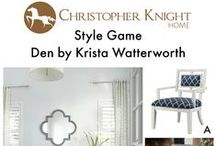 Style Game: Den by Krista Watterworth / Which chair would you pair with this den designed by Krista Watterworth?