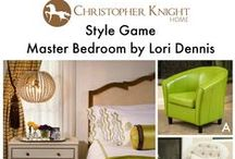 Style Game - Master Bedroom by Lori Dennis / Which chair would you pair with this master bedroom designed by Lori Dennis?